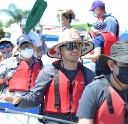 Project Independence Clients Paddle An Outrigger For Independence