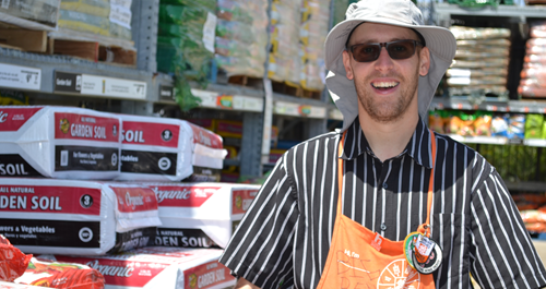 Project Independence Client at his Home Depot job