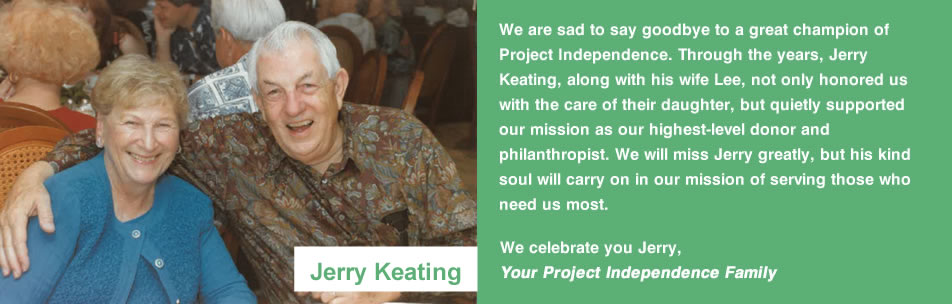 Memorial to Jerry Keating, a great champion of Project Independence